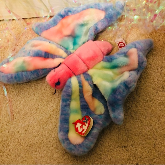 Vintage Beanie Baby - butterfly large